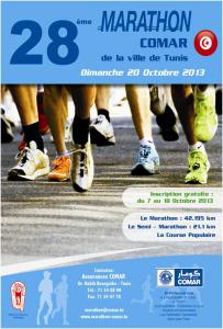 Marathon de la Comar, Tunis (Tunisie) 20/10/2013