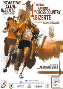 1er cross-country Tijani Kandara, Bizerte (Tunisie) 26/01/2014