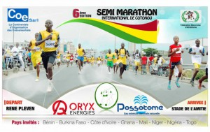 6th International Half-Marathon, Cotonou (Benin) 12/04/2014