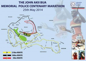 John Akii-Bua Police Centenary run, Kampala (Uganda) 25/05/2014