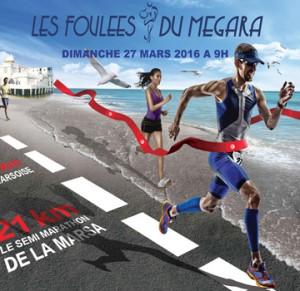 Foulées du Megara, la Marsa half-marathon (Tunisia) 27/03/2016