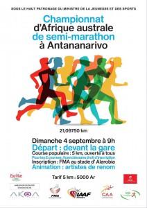 CAA Southern Region half-marathon championships, Antananarivo (Madagascar) 4/09/2016