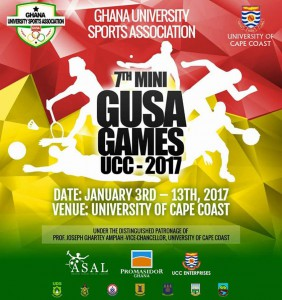 Mini Jeux universitaires, Cape Coast (Ghana) 10-11/01/2017