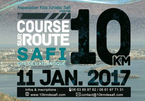 Safi 10km road race (Morocco) 11/01/2017