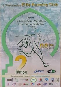 Fès half-marathon and 10km (Morocco) 8/01/2017
