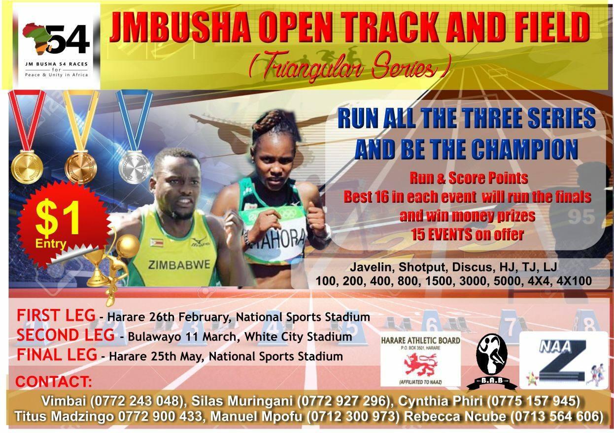 1er meeting JM Busha, Harare (Zimbabwe) 26/02/2017