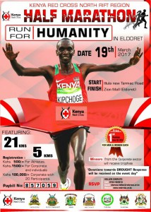 Red Cross Run for Humanity half-marathon, Eldoret (Kenya) 19/03/2017
