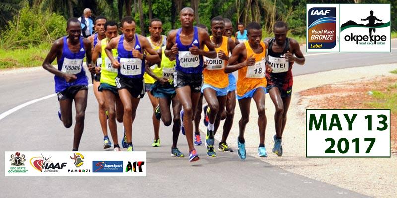 Okpekpke 10km road race (Nigeria) 13/05/2017