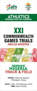 Commonwealth Games Trials, Abuja (Nigeria) 14-16/02/2018