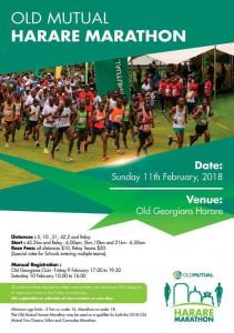 Old Mutual Harare marathon (Zimbabwe) 11/02/2018