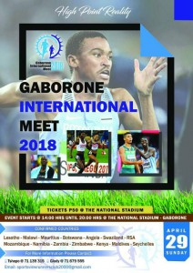 Meeting international de Gaborone (Botswana) 29/04/2018