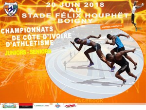 Championnat de Côte d'Ivoire juniors-seniors, Abidjan 20/06/2018