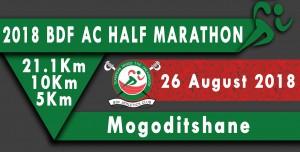 BDF AC half-marathon, Mogoditshwane (Botswana) 26/08/2018