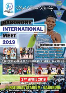 Meeting international de Gaborone (Botswana) 27/04/2019