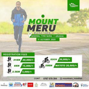 Mount Meru half-marathon, Arusha (Tanzania) 11/10/2020